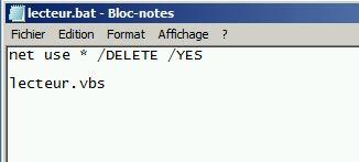Monter un lecteur réseau - Netlogon net use  bat  vbs | PC2S