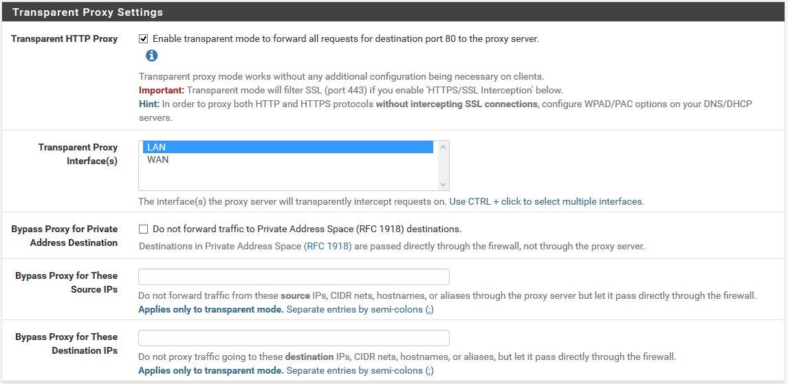 pfSense : Proxy Transparent Filtrage Web URL Squid