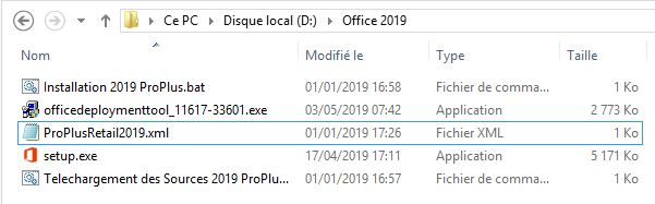 Télécharger, Installer, Déployer Office 2013 2016 2019